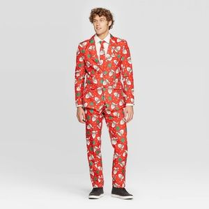 🆕 Suitmeister 3 Piece Men Ugly Christmas Suit